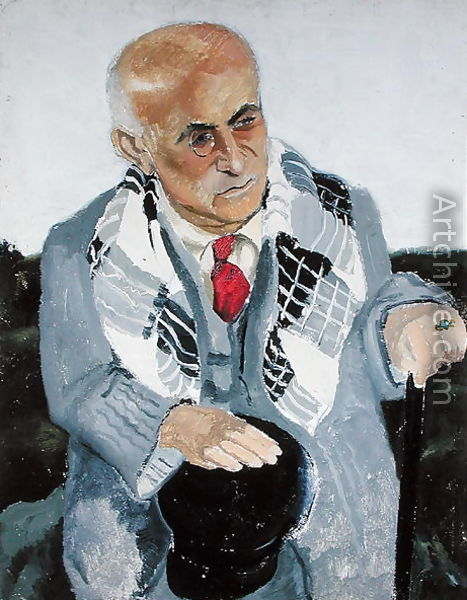 Portrait of Max Jacob. 1930. by Christopher Wood. Hilary is writing an article on the surrealist poet Max Jacob. Jewish by birth, Jacob was arrested in February 1944 and died in the internment camp at Drancy while awaiting deportation. Curiously there is almost no mention in the novel of the fate of French Jews.