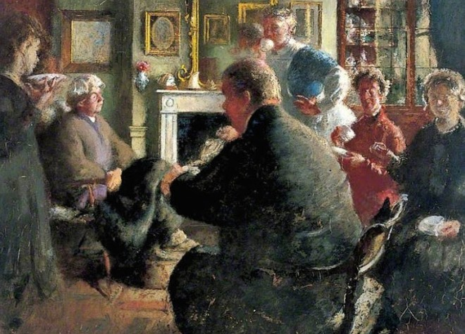 Henry_Tonks_British_1862_1937_Steer_at_Home_109_Cheyne_Walk_on_Christmas_Eve_