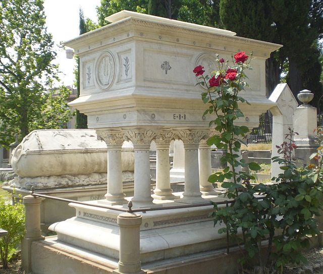 Elizabeth Barrett Browning's tomb in the English Cemetry, Florence