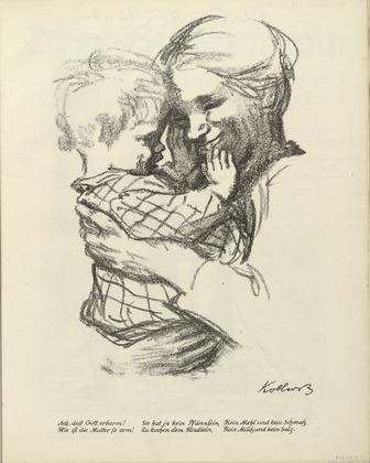 'Mother and Child' by Käthe Kollwitz. 1916