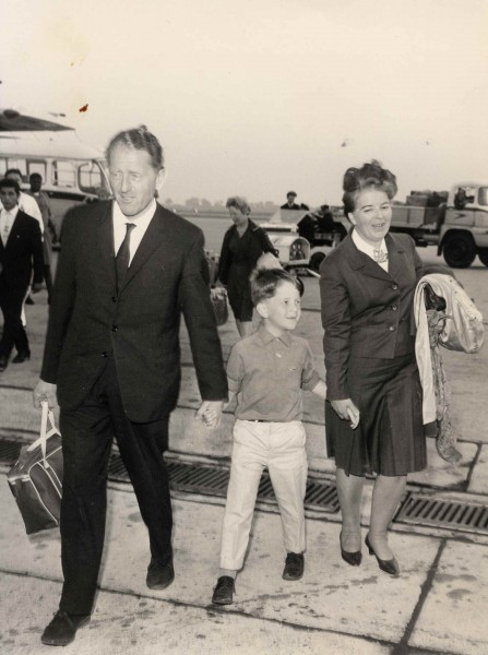 Rusty, Hilda and Keith arrive in England