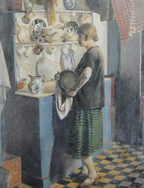 'Gertrude in the Kitchen' by Harold Harvey