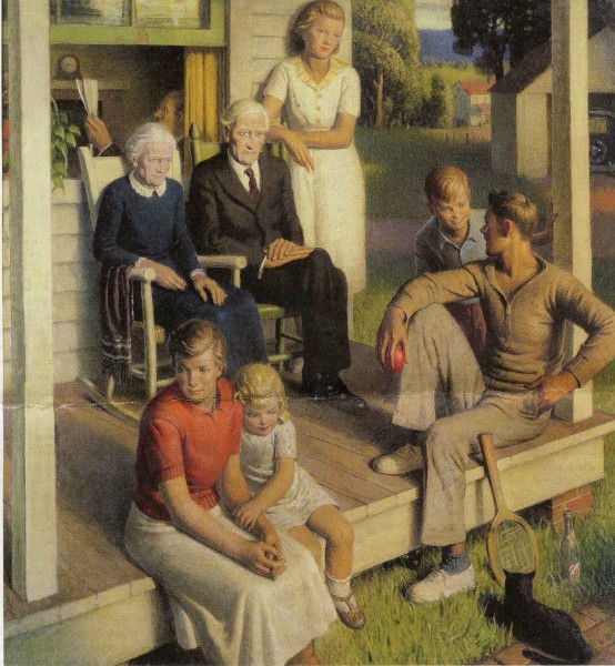 Norwood MacGilvary  1935 No More Chores- Family on Vacation copy