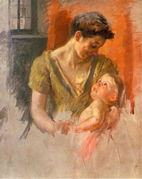 'Mother and Child Smiling at Each Other' by Mary Cassat 1908
