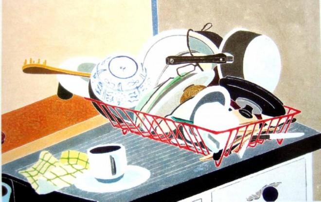 the washing up 1989 woodblock