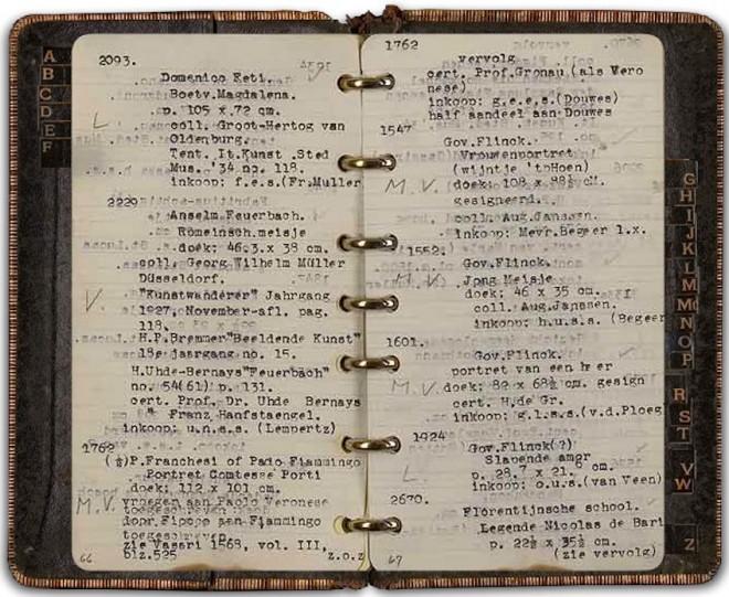 Goudstikker's notebook