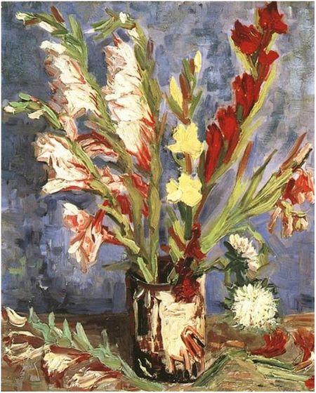 vase with gladioli van goh 1886 vg museum