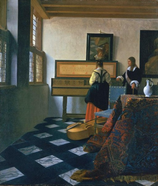 Johannes Vermeer, 'Lady at the Virginals with a Gentleman or 'The Music Lesson'', 1662-5