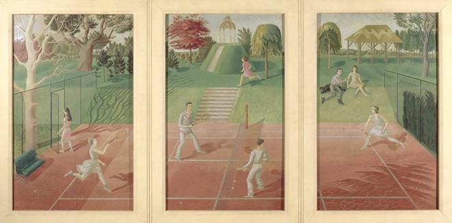 Tennis, c.1932 (tempera on panel)