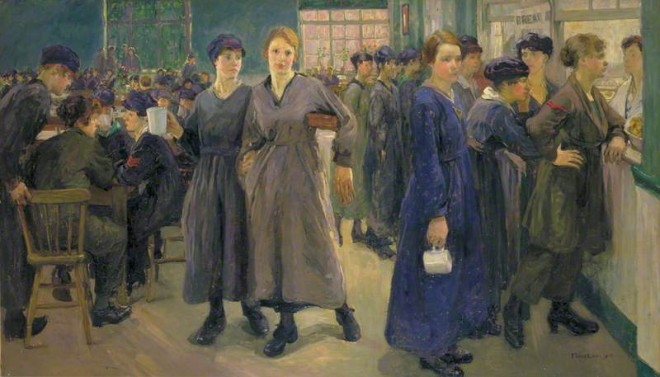 Lion, Flora, 1878-1958; Women's Canteen at Phoenix Works, Bradford