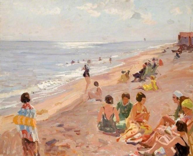 Talmage, Algernon, 1871-1939; Silver Morning, Aldeburgh Beach