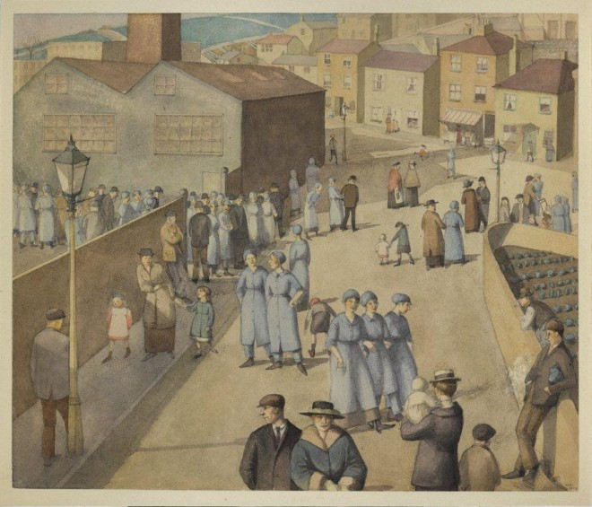 Winifred-Knights-Leaving-the-Munition-Works-1919
