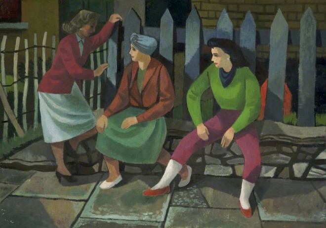 Rowe, Cliff, 1904-1989; Three Women Talking