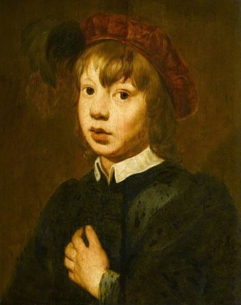 Dutch (Haarlem) School; A Young Boy Wearing a Red Beret with Feathers