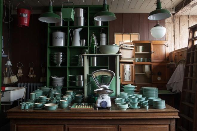 Flour-tins-and-ceramic-sets-and-crockery