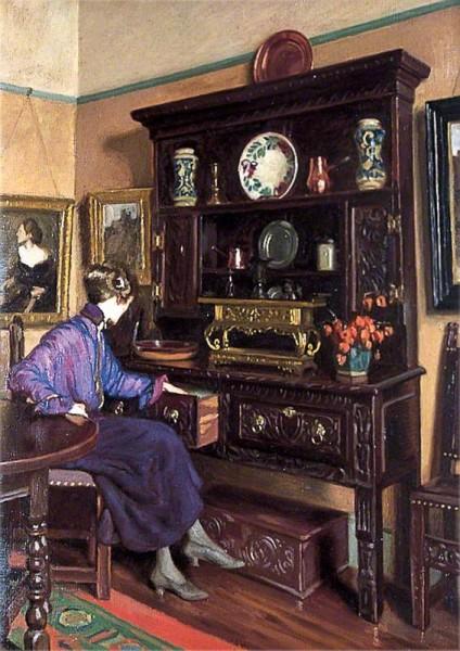 Burleigh, C. H. H., 1869-1956; The Oak Dresser