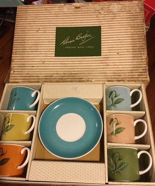 susie cooper coffee set in box