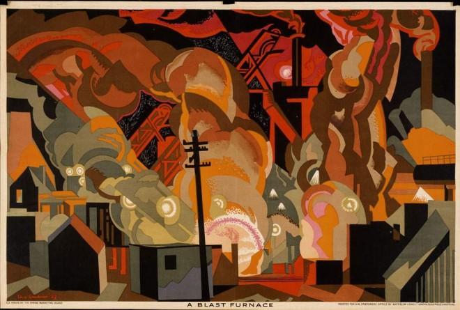 A-Blast-Furnace-Clive-Gardiner-c.1930-1