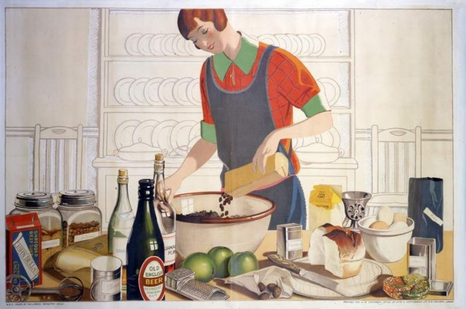 Making-the-Empire-Christmas-pudding-artwork-by-F-C-Harrison-c.1930