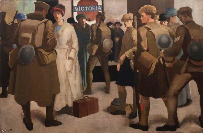 Meninsky, Bernard, 1891-1950; Victoria Station, District Railway
