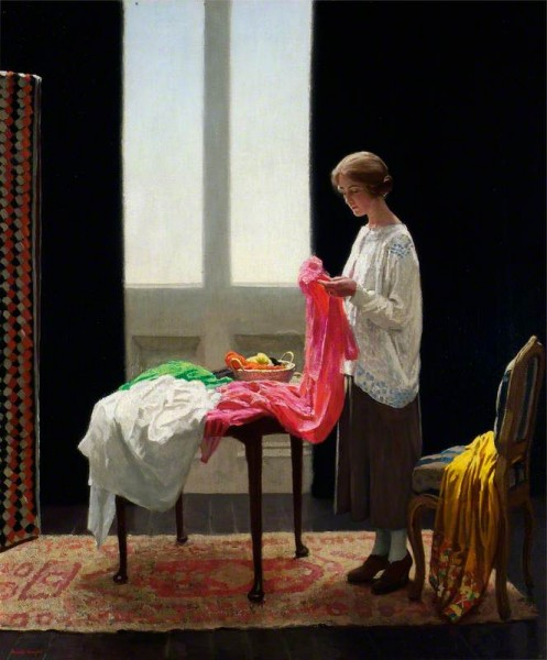 Knight, Harold, 1874-1961; The Embroideress