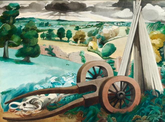 Edward Burra landscape near Rye 1932