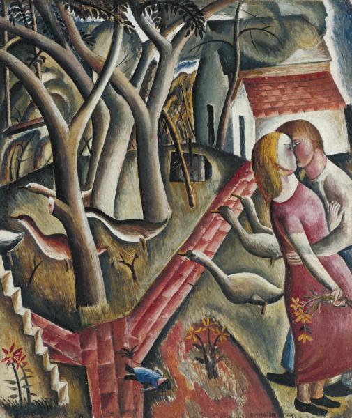 The Garden Enclosed 1924 by David Jones 1895-1974