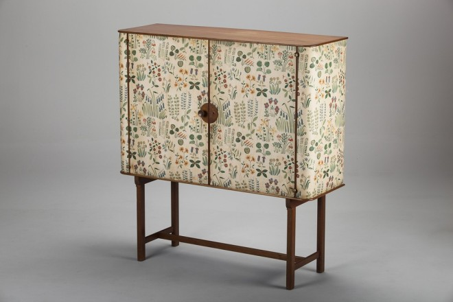 Josef Frank cabinet 1937 upholstered with material