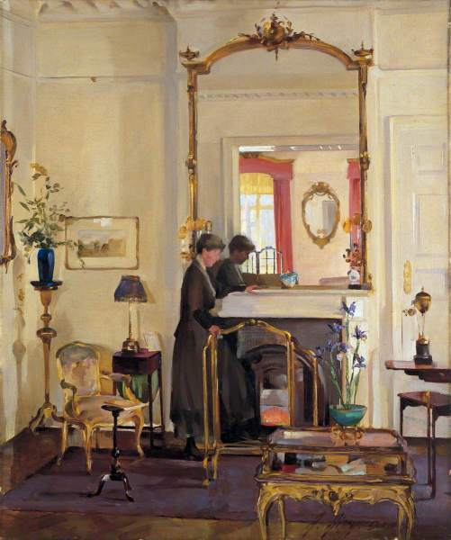 Airy, Anna, 1882-1964; Interior with Mrs Charles Burnand