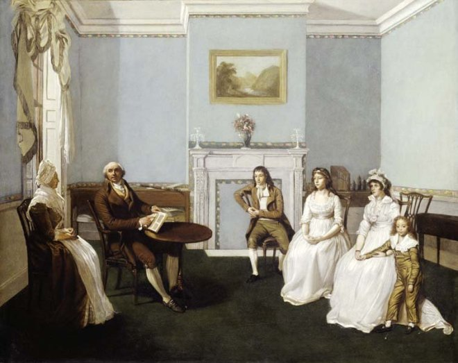 john middleton and his family in his drawing room 1796
