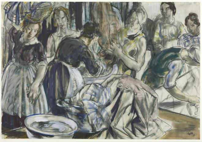 Washing Day exhibited 1938 by Gerald Moira 1867-1959