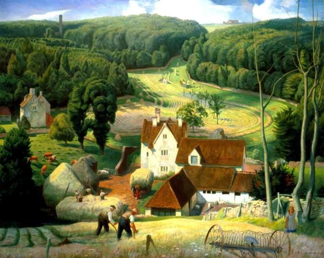Bateman, James, 1893-1959; Haytime in the Cotswolds