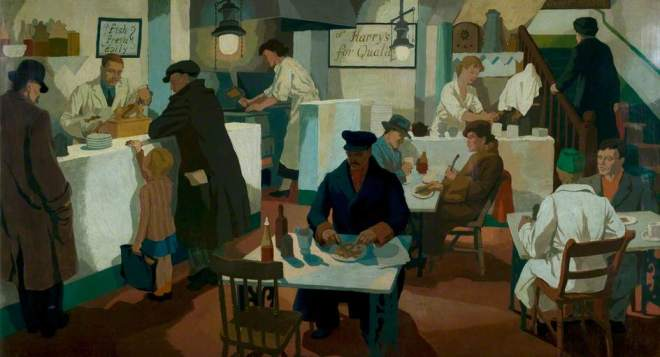 Rowe, Cliff, 1904-1989; The Fried Fish Shop