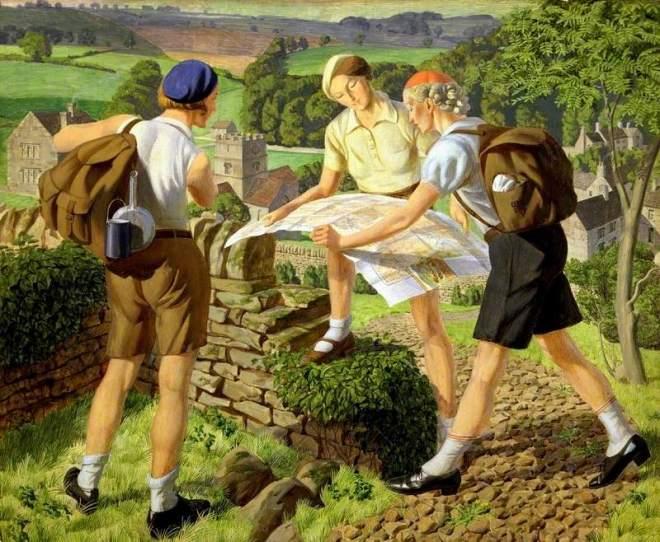 Tucker, James Walker, 1898-1972; Hiking