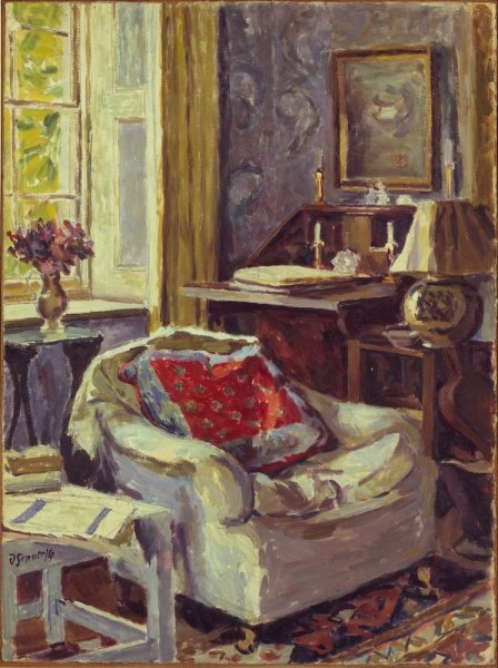 d grant artist's study at charleston 1967.j at the Met