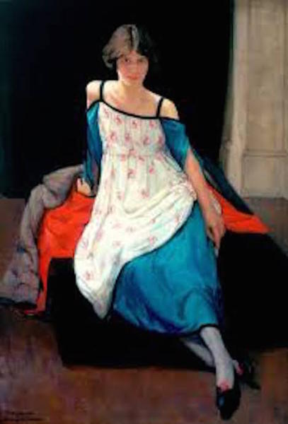 1920 portrait of Anne Finlay by Dorothy Johnstone