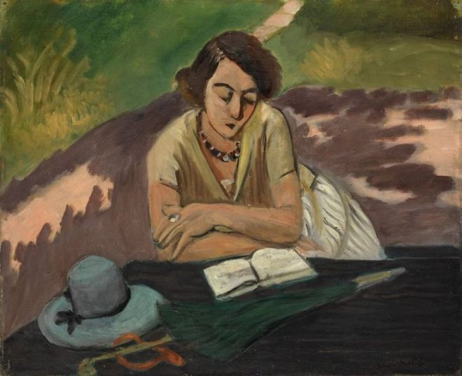 Henri Matisse (French, - Reading Woman with Parasol [Liseuse à l'ombrelle], 1921