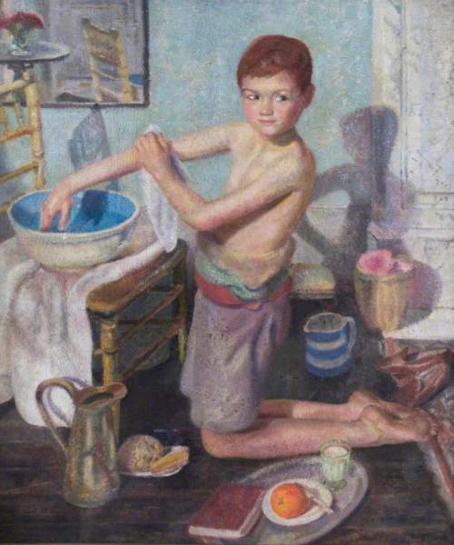 Finlay, Anne, 1898-1963; Ronnie at Bedtime