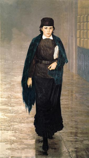 girl student Mykola Yaroshenko 1880