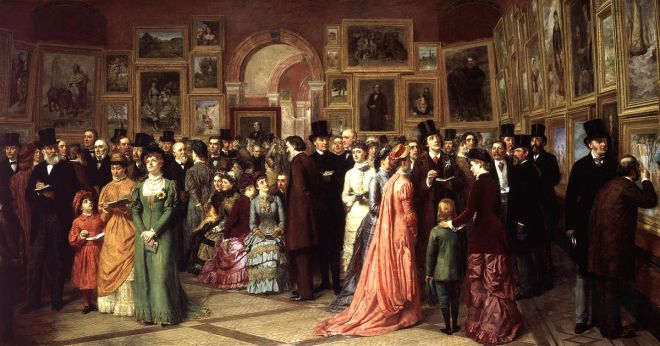 a private view at the royal academy frith.1881