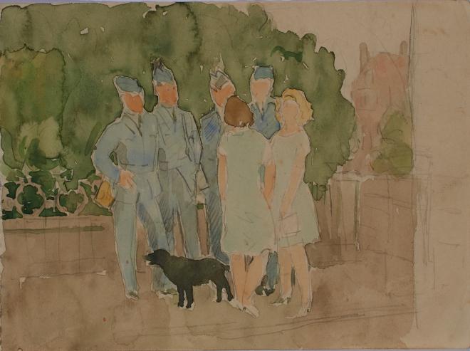 Study-of-Men-in-RAF-Uniforms