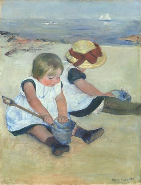 mary cassatt children playing on the beach 1884