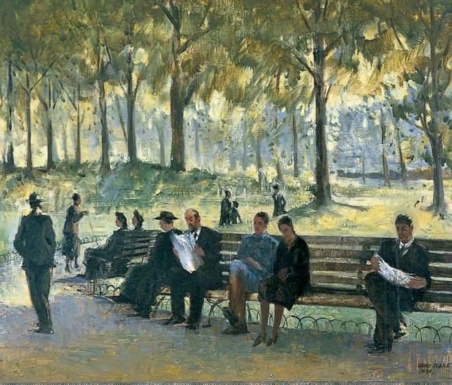 Clark, Cosmo, 1897-1967; Luxembourg Gardens, Autumn