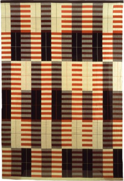 Anni-Albers-Black-White-Red-19261964-cotton-and-silk-69-×-461⁄2-in-1.-175-×-118-cm