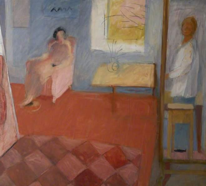 Hilton, Rose, b.1931; Friend in my Studio