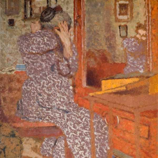 madame vuillard arranging her hair 1900