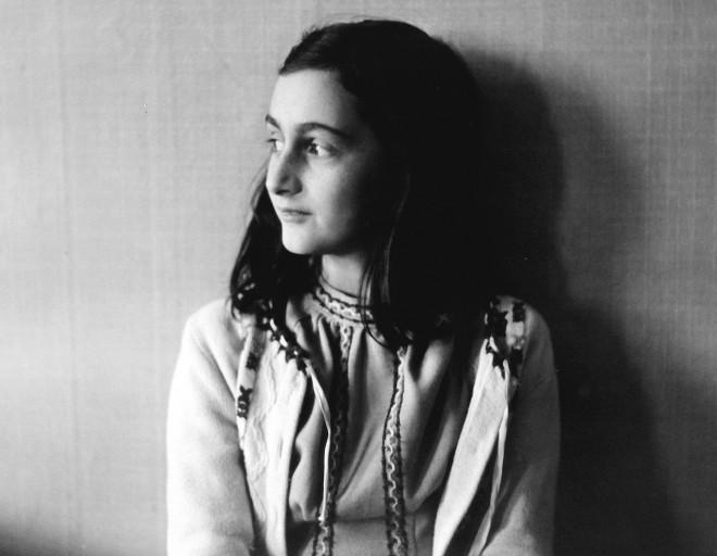 Anne Frank (b/w photo)