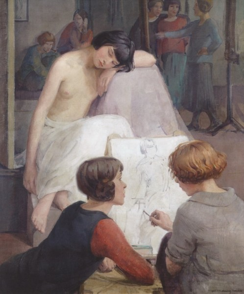 Edinburgh Dorothy Johnstone 'Rest Time in the Life Class' 1923