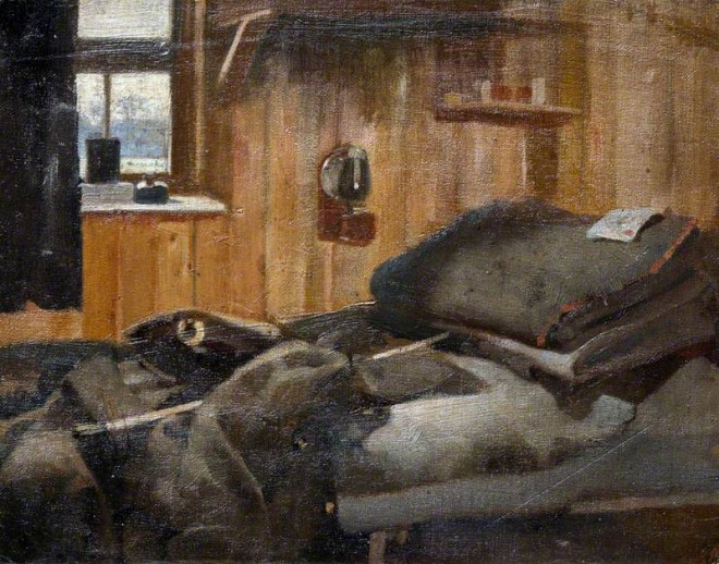 Bush, Harry, 1883-1957; Interior of Barracks, 17 A. A. Coy, North Queensferry