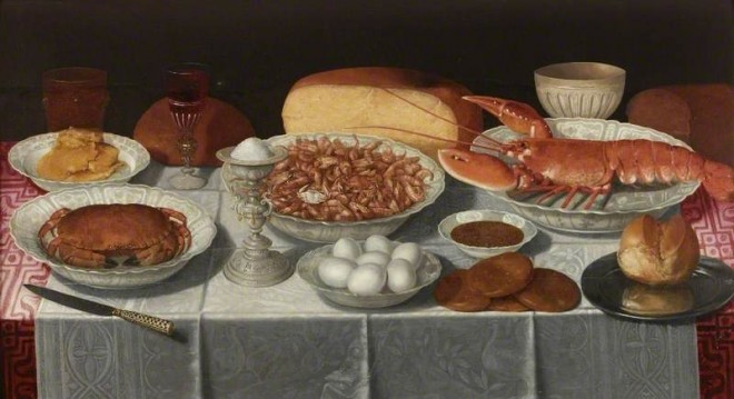 Peeters, Clara, c.1585-c.1655; Still Life with Shellfish and Eggs
